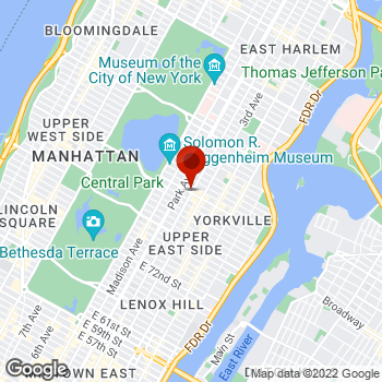 Map of Staples® Print & Marketing Services at 1280 Lexington Ave, New York, NY 10028