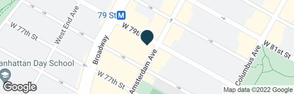 Google Map of380 AMSTERDAM AVE