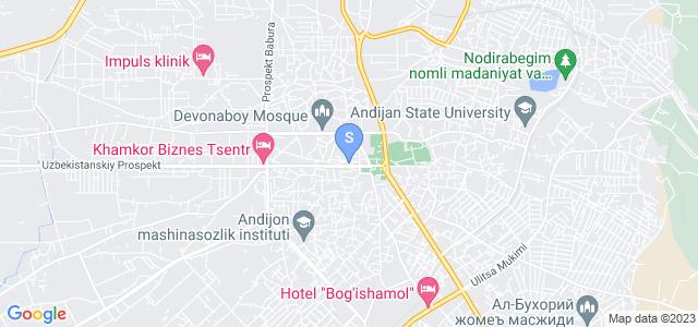 Расположение гостиницы Афросиаб на карте