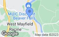 Map of Beaver Falls, PA