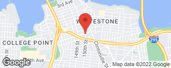 Map of 1403 150th St in Whitestone