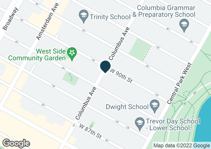 Google Map of609 COLUMBUS AVE