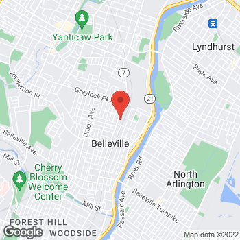 Map of Taco Bell at 508 Washington Avenue, Belleville, NJ 07109