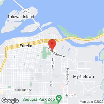 Map of Check `n Go at 1008 West Avenue, Eureka, CA 95501