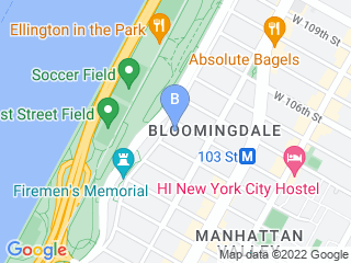 Map of Upper West Side Dog Walker Dog Boarding options in New York | Boarding