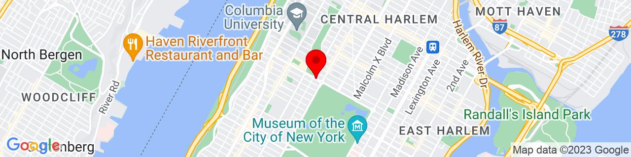 Google Map of 40.8010424, -73.9592019