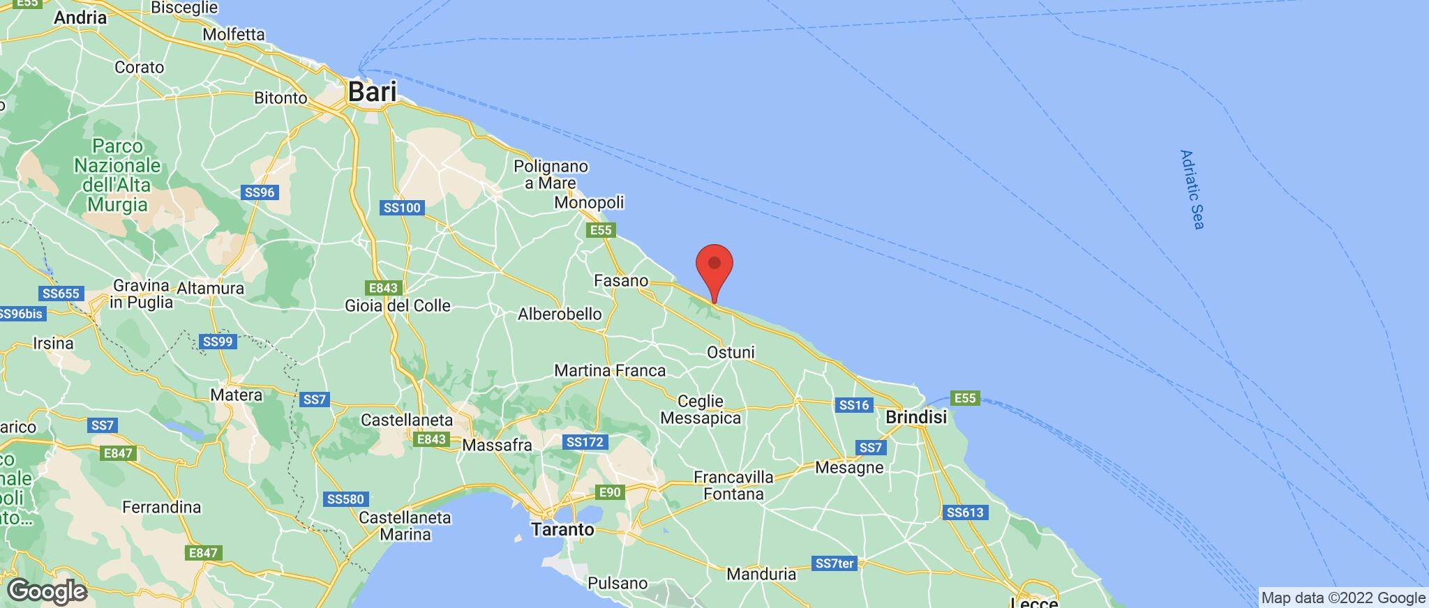 Map showing the location of Rosa Marina