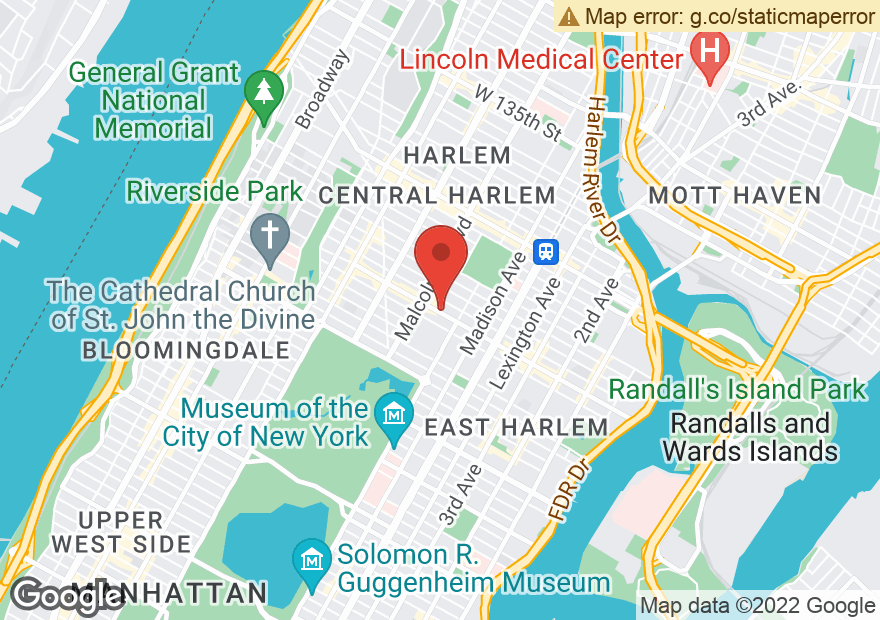 Google Map of 29 W 116TH ST