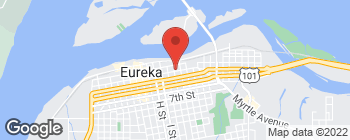 Map of 233 K St in Eureka