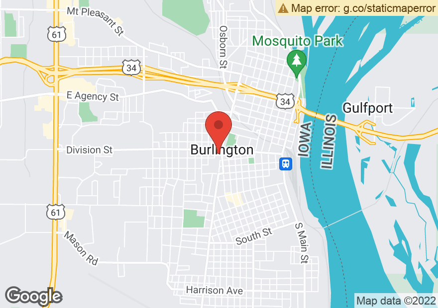 Google Map of 201 S CENTRAL AVE