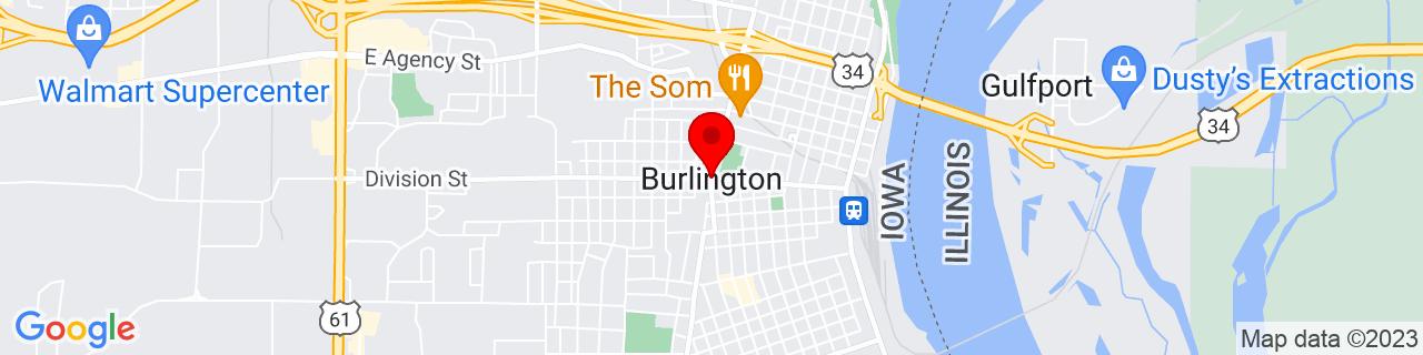 Google Map of 40.8076529, -91.1128901