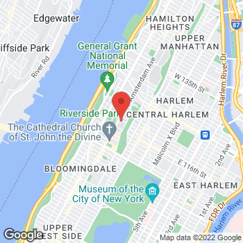 Map of Santander Bank ATM at 420 W. 118th St, New York, NY 10027