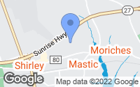 Map of Mastic, NY
