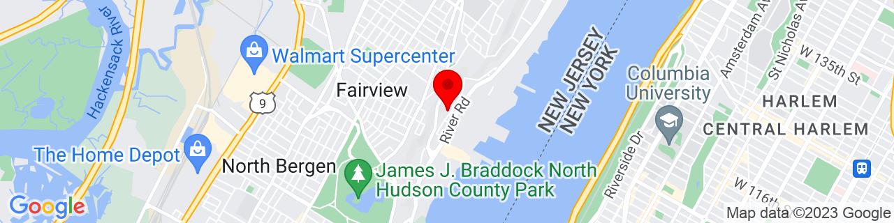 Google Map of 40.810571, -73.989749
