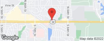 Map of 7800 O St in Lincoln