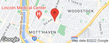 Map of 436 E 149th St in Bronx