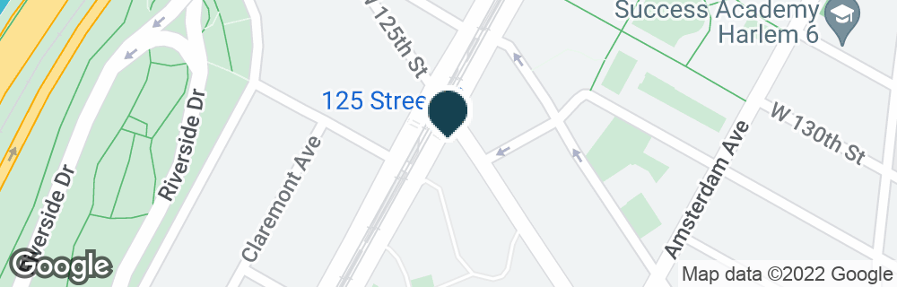 Google Map of568 W 125TH ST