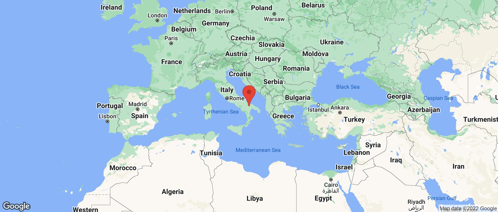 Map showing the location of Puglia