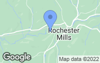 Map of Rochester Mills, PA