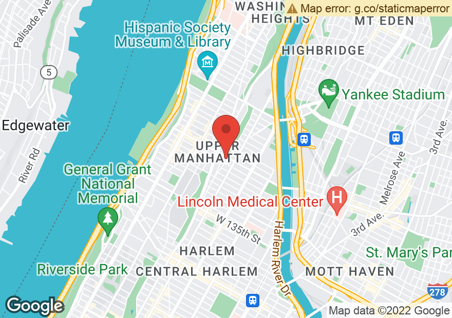 Google Map of 320 W 145TH ST