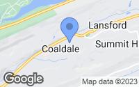 Map of Coaldale, PA