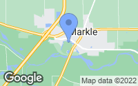 Map of Markle, IN