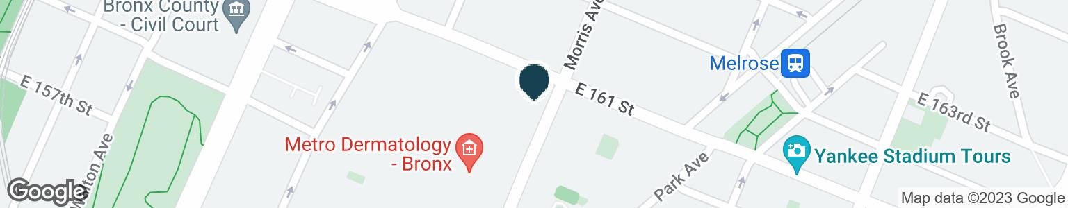 Google Map of244 E 161ST ST