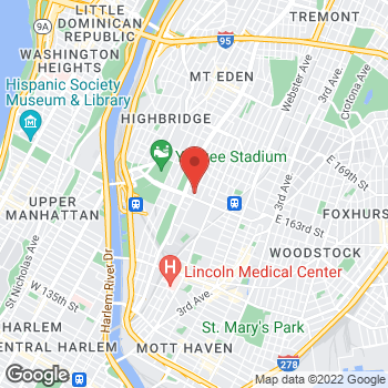 Map of Optimum WiFi Hotspot at 895 Sheridan Ave, Bronx, NY 10451