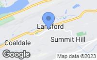 Map of Lansford, PA