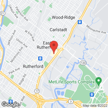 Map of Panera Bread at 95 State Highway 17, East Rutherford, NJ 07073
