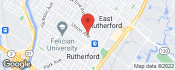Map of 50 Union Ave in Rutherford