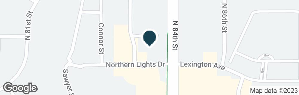 Google Map of8300 NORTHERN LIGHTS DR