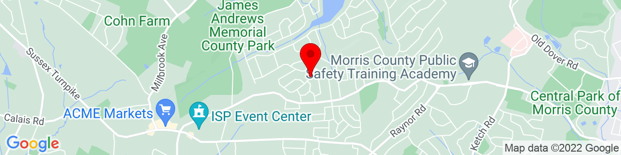 Google Map of 40.8336038, -74.54632819999999