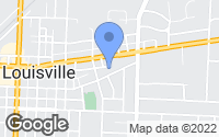 Map of Louisville, OH