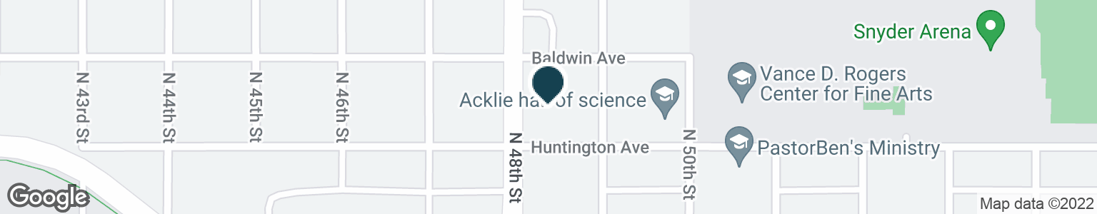 Google Map of2502 N 48TH ST