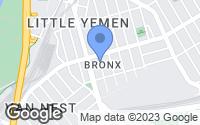 Map of The Bronx, NY