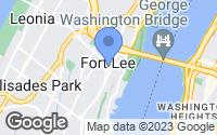 Map of Fort Lee, NJ