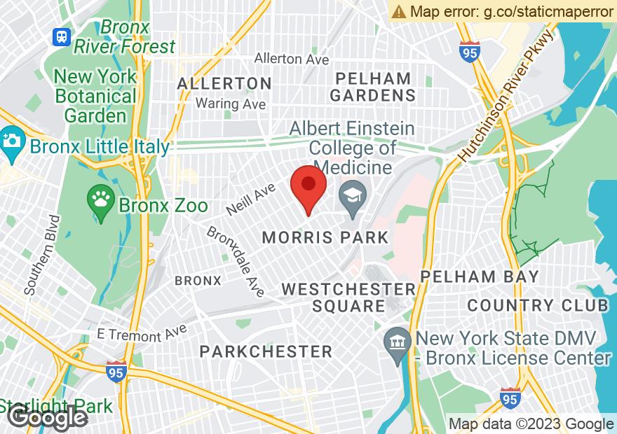 Google Map of 1820 WILLIAMSBRIDGE RD