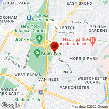 Map of Staples® Print & Marketing Services at 2040 White Plains Road, Bronx, NY 10462