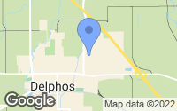 Map of Delphos, OH