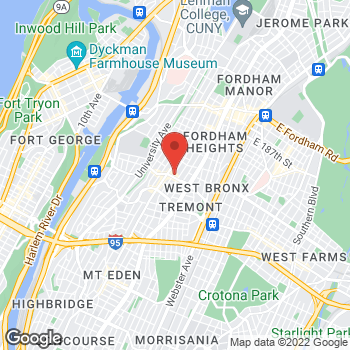 Map of Rite Aid at 57 East Burnside Avenue, Bronx, NY 10453