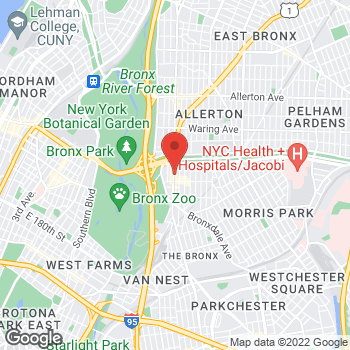 Map of Rite Aid at 2158 White Plains Road, Bronx, NY 10462