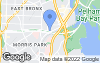 Map of Bronx, NY