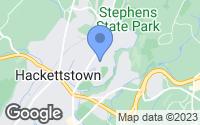Map of Hackettstown, NJ