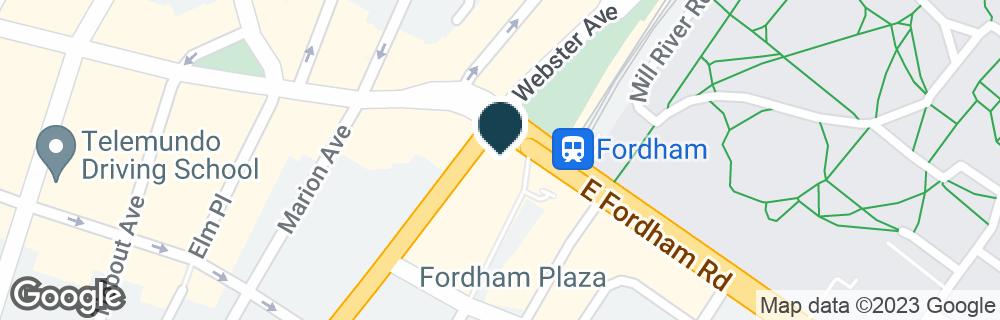 Google Map of406 E FORDHAM RD