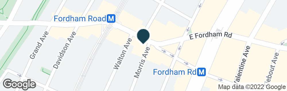 Google Map of58 E FORDHAM RD