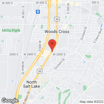Map of Arby's at 2489 S Main St, Bountiful, UT 84010