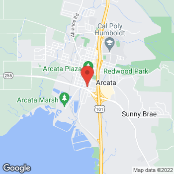 Map of Carquest Auto Parts at 480 G Street, Arcata, CA 95521