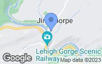 Map of Jim Thorpe, PA
