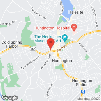 Map of Panera Bread at 345 Main Street, Huntington, New York 11743